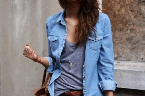 So… zieht man ein Jeanshemd an…