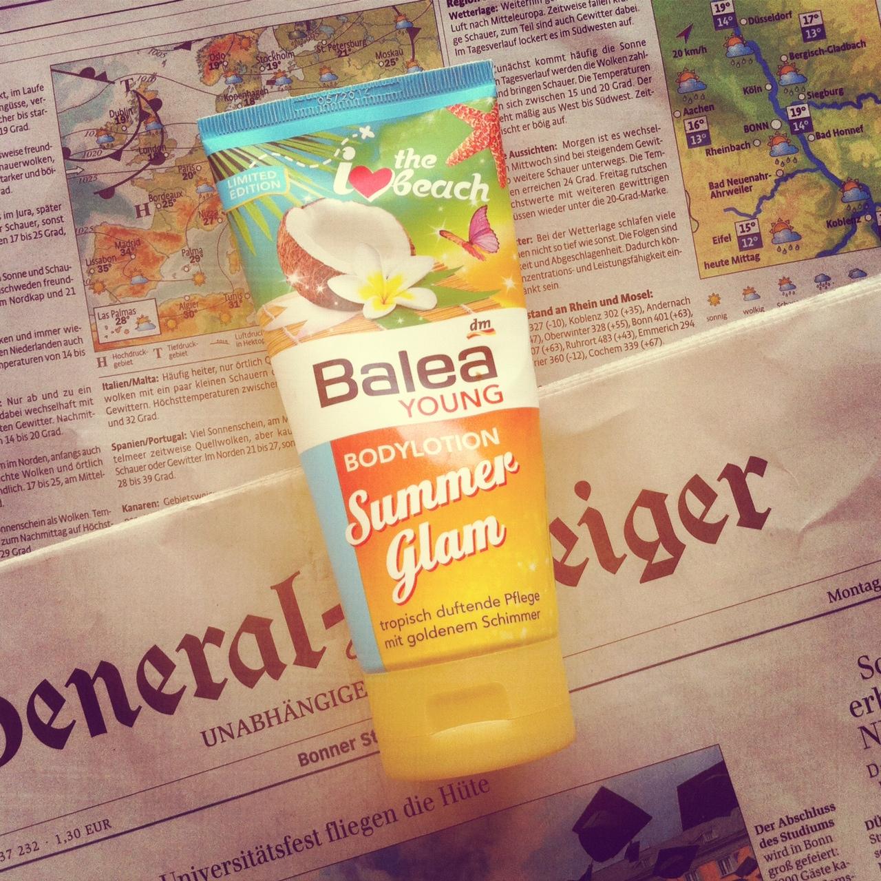 Wir schlagen dem Bonner Sommer ein Schnippchen… und tragen den Sommer auf unserer Haut! Balea Summerglam
