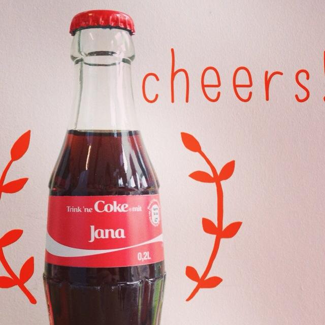 """Irgendwie """"süß"""" – die Coke trägt meinen Namen!"""