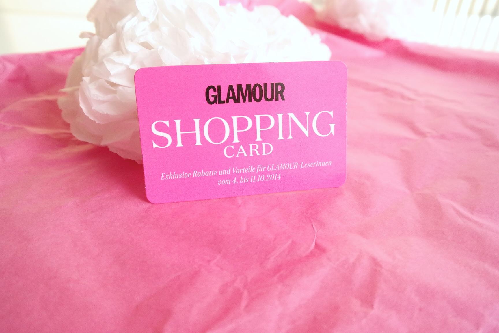 Wir freuen uns auf morgen // Let's go shopping mit der Glamour Shopping Card