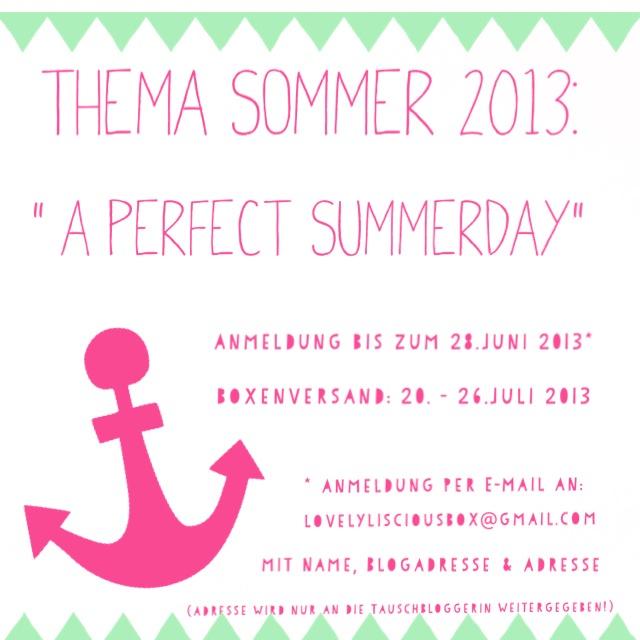 Sommerlicher Boxentausch // Die Lovelylicious Bloggerbox